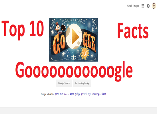 top 10 facts of google