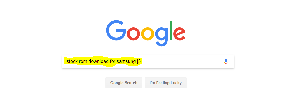 for search stock rom download for samsung j5