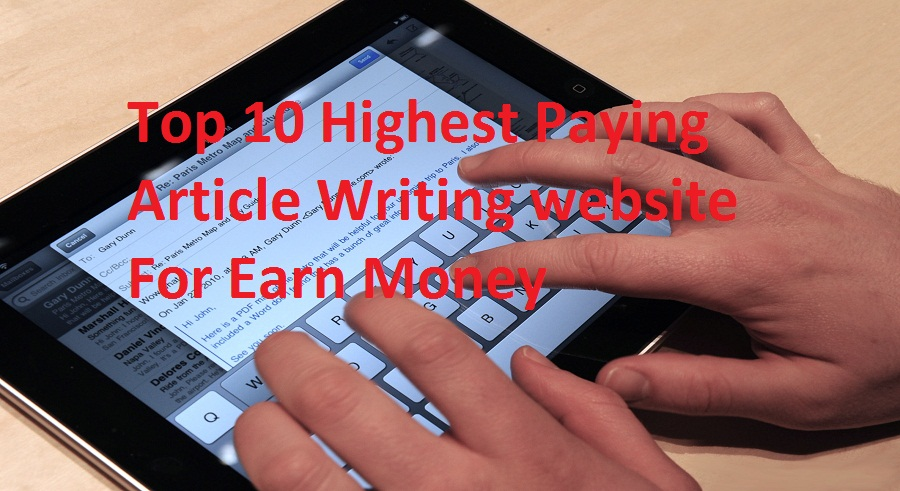 highest paying article writing websites