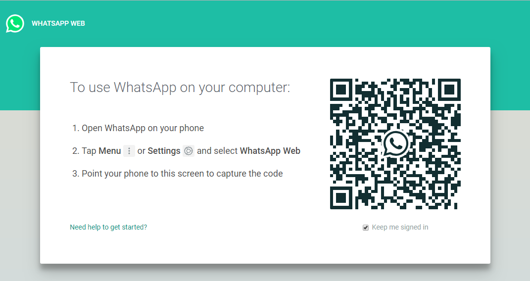 web.whatsapp page