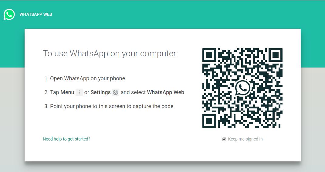 web.whatsapp page