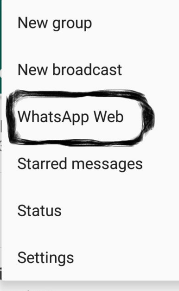 whatsapp menu 2