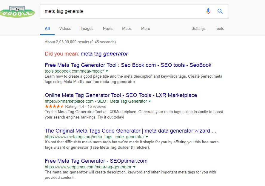 meta tag generator tools